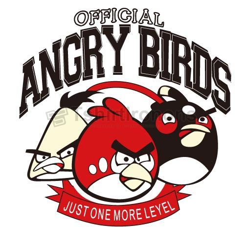 Angry Birds T-shirts Iron On Transfers N2405