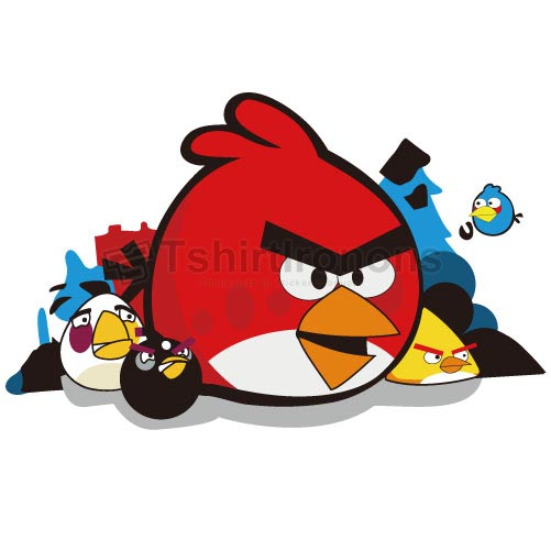 Angry Birds T-shirts Iron On Transfers N2406