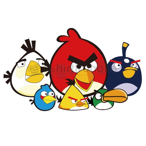 Angry Birds T-shirts Iron On Transfers N2409
