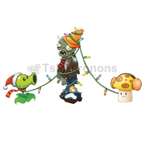 Plants vs. Zombies T-shirts Iron On Transfers N2513