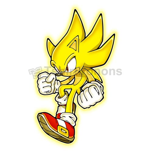 Sonic the Hedgehog T-shirts Iron On Transfers N7950