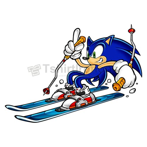 Sonic the Hedgehog T-shirts Iron On Transfers N7959