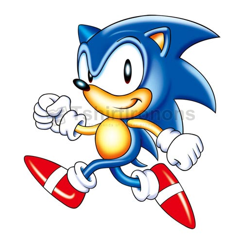 Sonic the Hedgehog T-shirts Iron On Transfers N7980