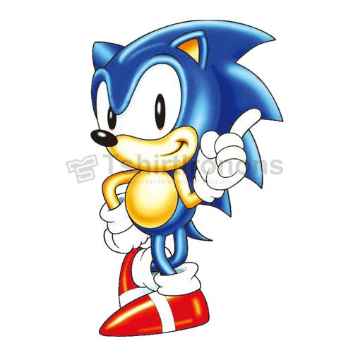 Sonic the Hedgehog T-shirts Iron On Transfers N7982
