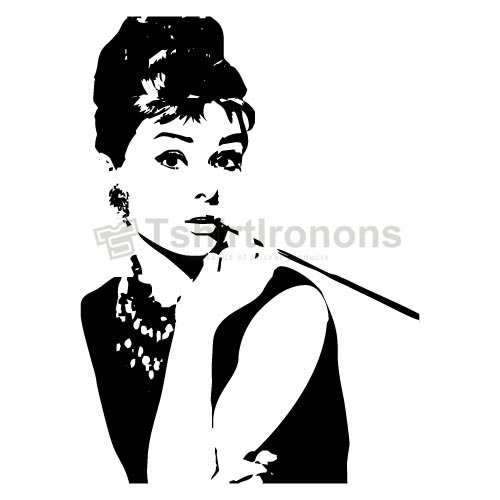 Audrey Hepburn T-shirts Iron On Transfers N7115