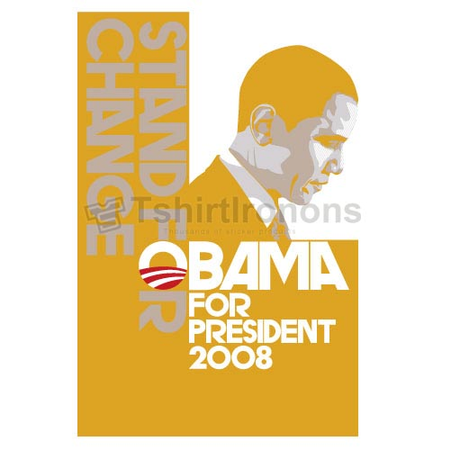 Obama T-shirts Iron On Transfers N6246