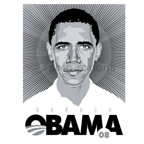 Obama T-shirts Iron On Transfers N6248