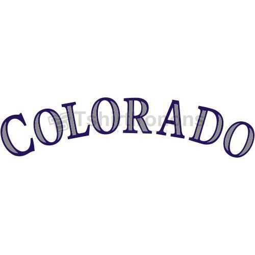 Colorado Rockies T-shirts Iron On Transfers N1561