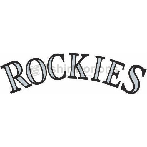 Colorado Rockies T-shirts Iron On Transfers N1562