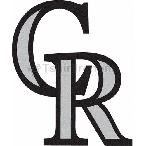 Colorado Rockies T-shirts Iron On Transfers N1563