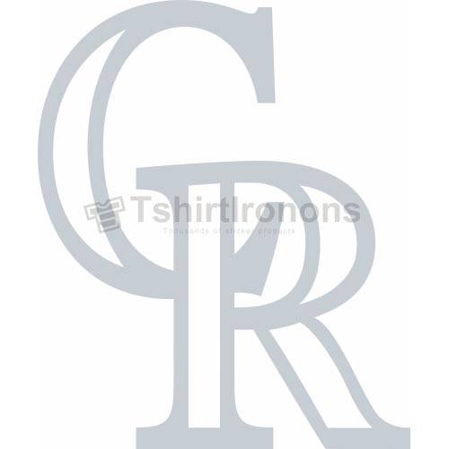 Colorado Rockies T-shirts Iron On Transfers N1564