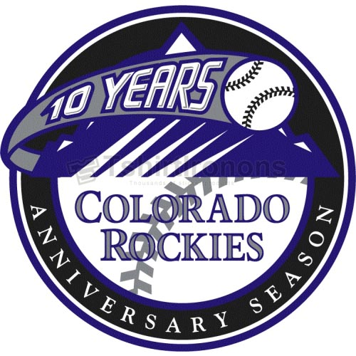 Colorado Rockies T-shirts Iron On Transfers N1566