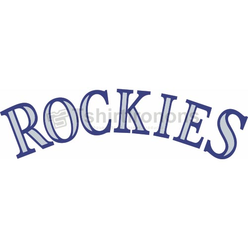 Colorado Rockies T-shirts Iron On Transfers N1567