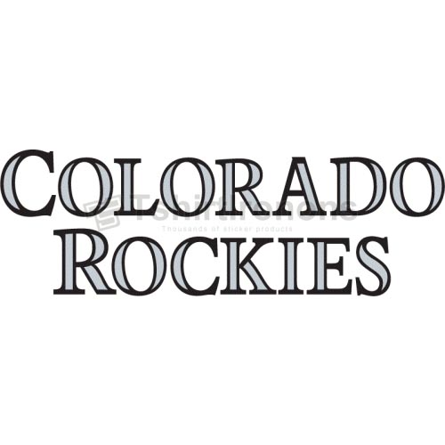 Colorado Rockies T-shirts Iron On Transfers N1568