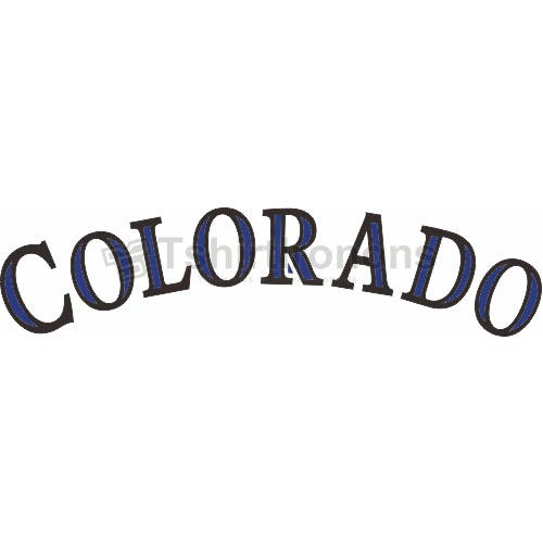 Colorado Rockies T-shirts Iron On Transfers N1569