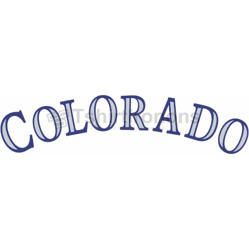 Colorado Rockies T-shirts Iron On Transfers N1570
