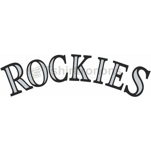 Colorado Rockies T-shirts Iron On Transfers N1572