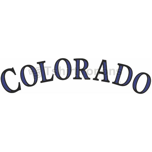 Colorado Rockies T-shirts Iron On Transfers N1573