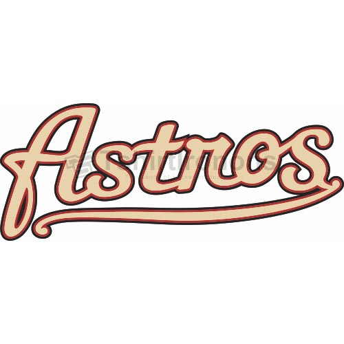 Houston Astros T-shirts Iron On Transfers N1608