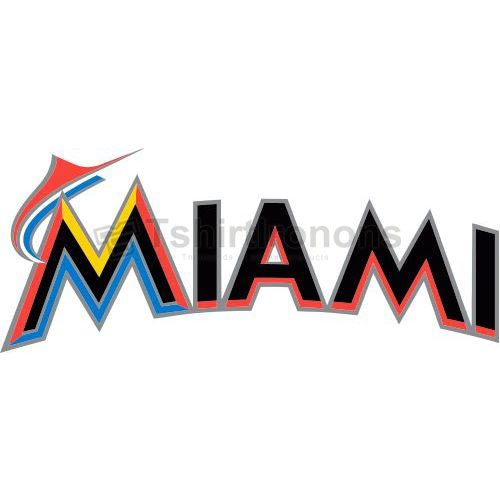 Miami Marlins T-shirts Iron On Transfers N1686