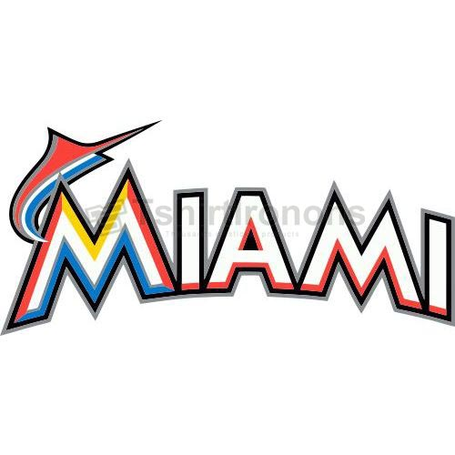 Miami Marlins T-shirts Iron On Transfers N1687