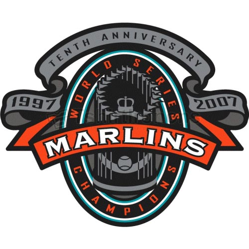 Miami Marlins T-shirts Iron On Transfers N1693