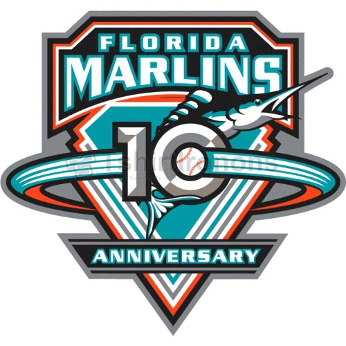 Miami Marlins T-shirts Iron On Transfers N1694