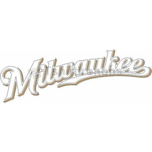 Milwaukee Brewers T-shirts Iron On Transfers N1705