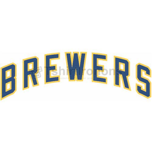 Milwaukee Brewers T-shirts Iron On Transfers N1706