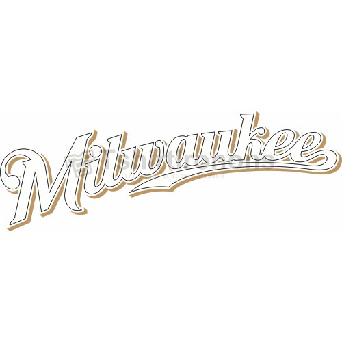 Milwaukee Brewers T-shirts Iron On Transfers N1709