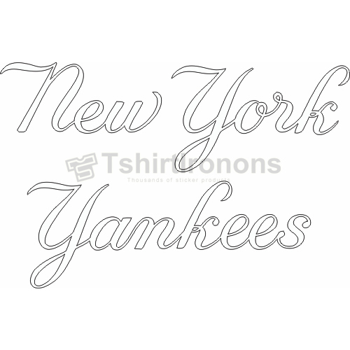 New York Yankees T-shirts Iron On Transfers N1777
