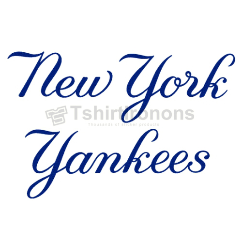New York Yankees T-shirts Iron On Transfers N1779