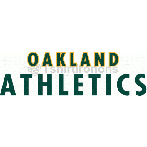 Oakland Athletics T-shirts Iron On Transfers N1795