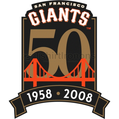 San Francisco Giants T-shirts Iron On Transfers N1888