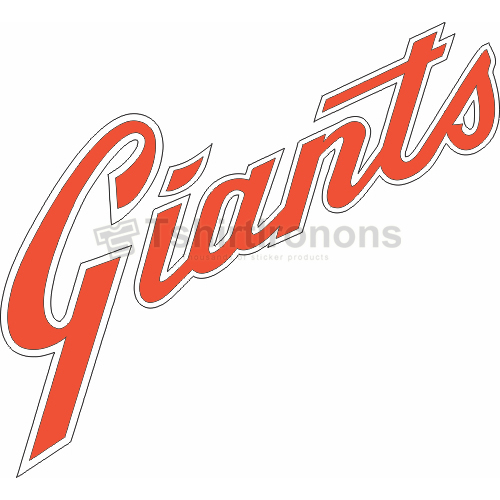 San Francisco Giants T-shirts Iron On Transfers N1894