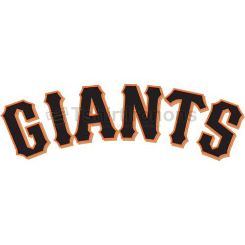 San Francisco Giants T-shirts Iron On Transfers N1897