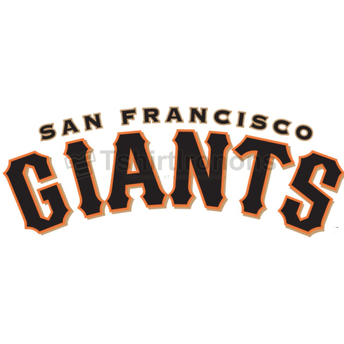San Francisco Giants T-shirts Iron On Transfers N1899