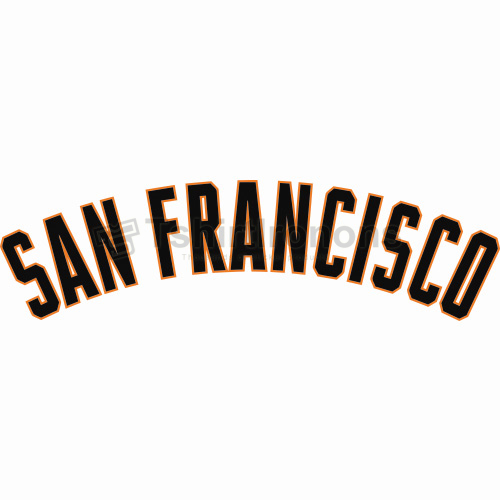 San Francisco Giants T-shirts Iron On Transfers N1900
