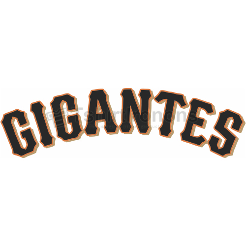 San Francisco Giants T-shirts Iron On Transfers N1901