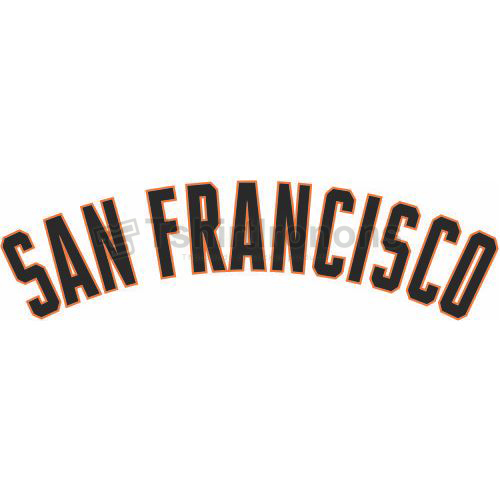 San Francisco Giants T-shirts Iron On Transfers N1904