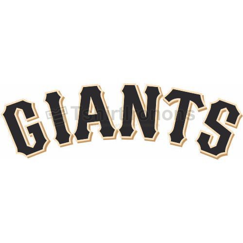 San Francisco Giants T-shirts Iron On Transfers N1905