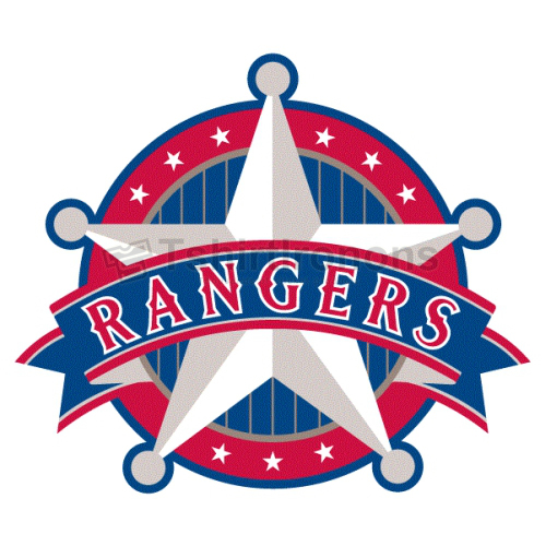 Texas Rangers T-shirts Iron On Transfers N1961