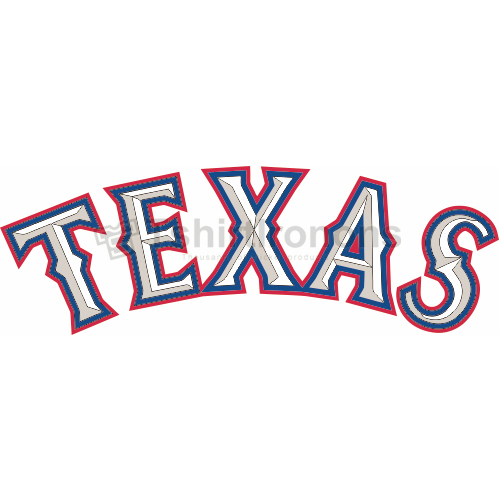 Texas Rangers T-shirts Iron On Transfers N1973