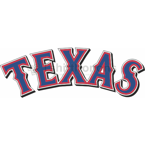 Texas Rangers T-shirts Iron On Transfers N1974