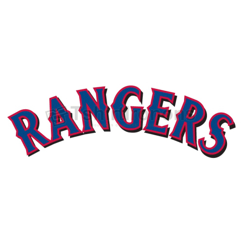 Texas Rangers T-shirts Iron On Transfers N1975