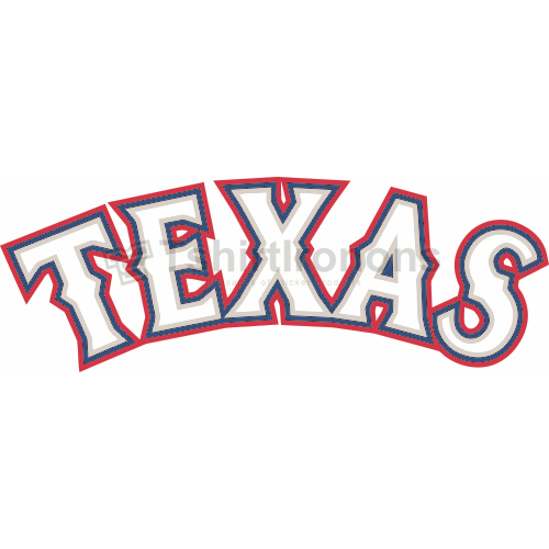 Texas Rangers T-shirts Iron On Transfers N1976
