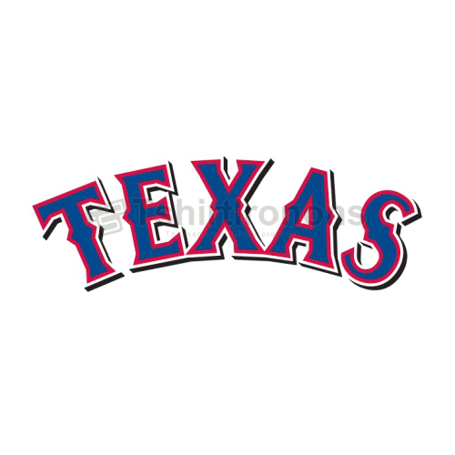 Texas Rangers T-shirts Iron On Transfers N1978