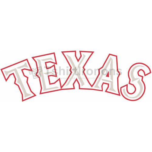 Texas Rangers T-shirts Iron On Transfers N1981