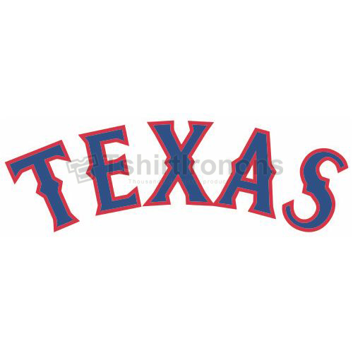 Texas Rangers T-shirts Iron On Transfers N1982