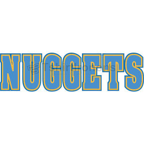 Denver Nuggets T-shirts Iron On Transfers N988